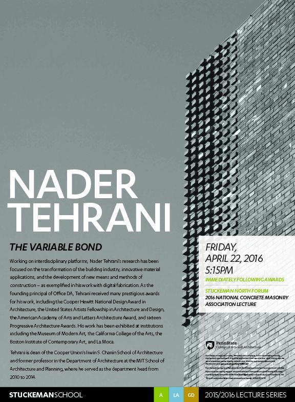 LecturePoster-NaderTehrani2016 v2